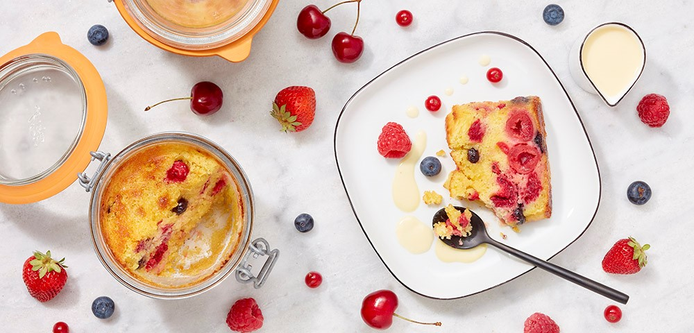 Moist Summer Berries Tea cake